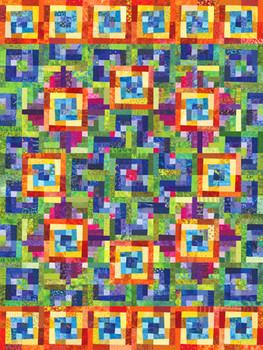 Quarter Cabin Paper Pieced Quilt Pattern