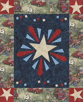 Hometime Fireworks Paper Pieced Quilt Pattern