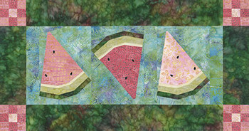 Watermelon Wedges Paper Pieced Quilt Pattern