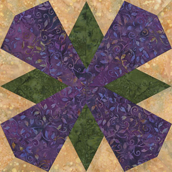 Bogata Distrito Capital Paper Pieced Quilt Block Pattern