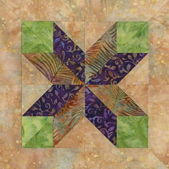 Cairo on the Nile Quilt Paper Pieced Quilt Block Pattern