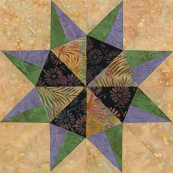 Colorado Springs Delight Paper Pieced Quilt Block Pattern