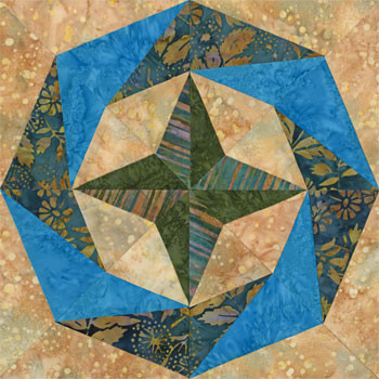 Lima City of Kings Paper Pieced Quilt Block Pattern