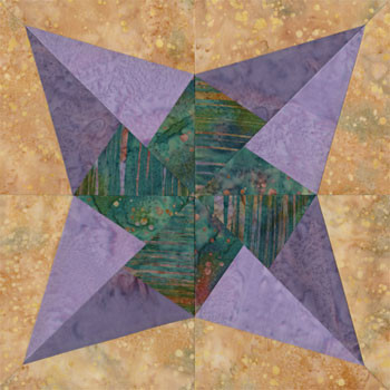 New Orleans Big Easy Paper Pieced Quilt Block Pattern