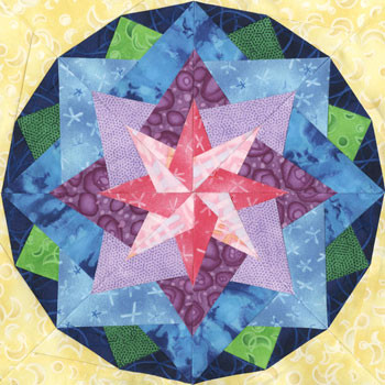 Almaaz Paper Pieced Quilt Block Pattern