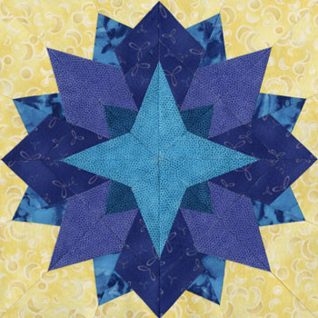 Atria Paper Pieced Quilt Block Pattern