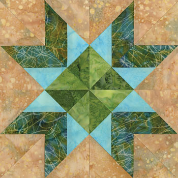 Norfolk Harbor Paper Pieced Quilt Block Pattern