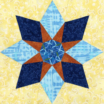 Castor Paper Pieced Quilt Block Pattern