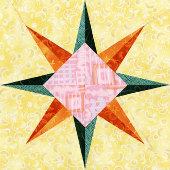 Diadem Paper Pieced Quilt Block Pattern