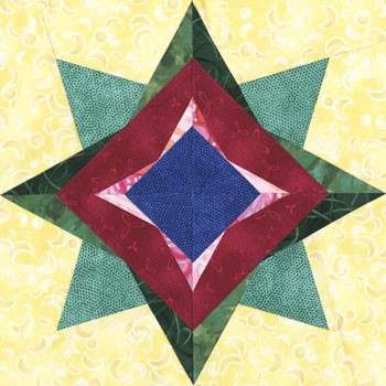 Electra Paper Pieced Quilt Block Pattern