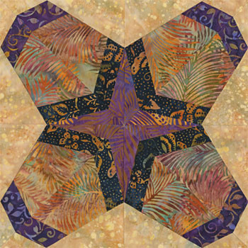 Riverside Mission Paper Pieced Quilt Block Pattern