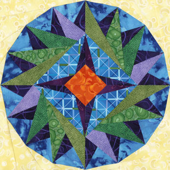 Elnath Paper Pieced Quilt Block Pattern