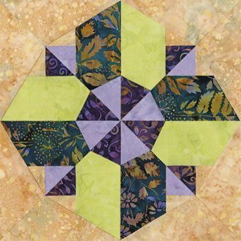 Saint Louis Splendor Paper Pieced Quilt Block Pattern