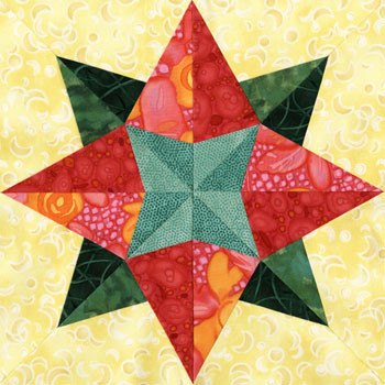 Elantin Paper Pieced Quilt Block Pattern