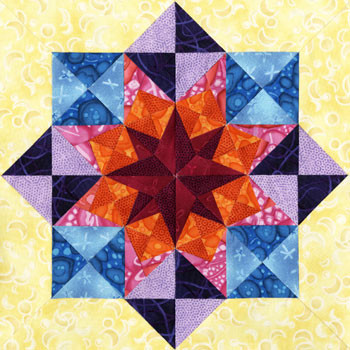 Formalhaut Paper Pieced Quilt Block Pattern