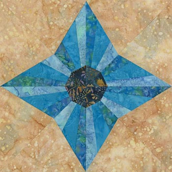 San Diego Dreams Paper Pieced Quilt Block Pattern