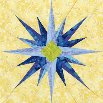 Girtab Paper Pieced Quilt Block Pattern