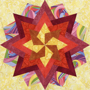 Hadar Paper Pieced Quilt Block Pattern