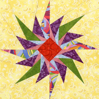 Nihal Paper Pieced Quilt Block Pattern