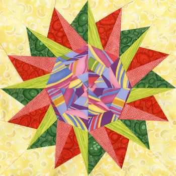 Polis Paper Pieced Quilt Block Pattern