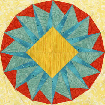 Rana Paper Pieced Quilt Block Pattern