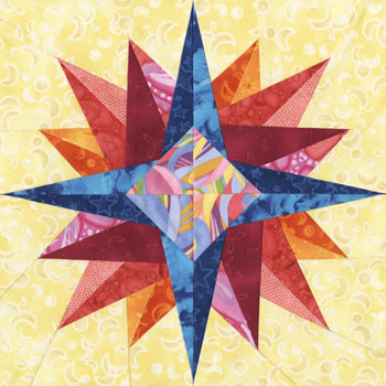 Rastaban Paper Pieced Quilt Block Pattern