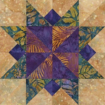 Virginia Beach Star Paper Pieced Quilt Block Pattern