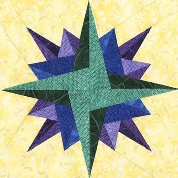 Zaniah Paper Pieced Quilt Block Pattern