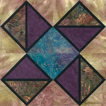Stained Glass Dacha Paper Pieced Quilt Block Pattern