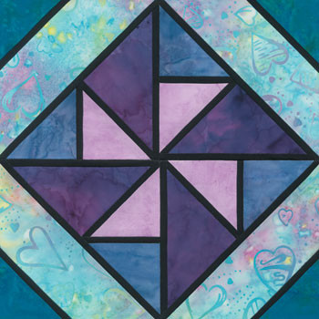 Stained Glass Gander Crossing Paper Pieced Quilt Block Pattern