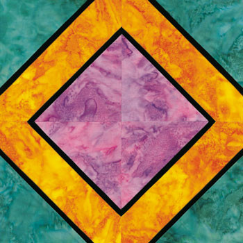 Stained Glass Golden Memories Paper Pieced Quilt Block Pattern