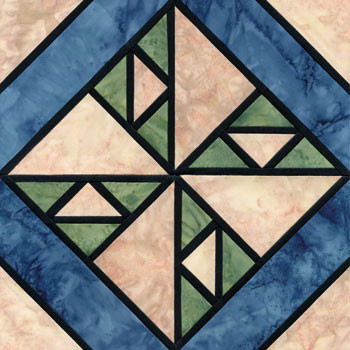 Stained Glass Hole in the Wheel Paper Pieced Quilt Block Pattern