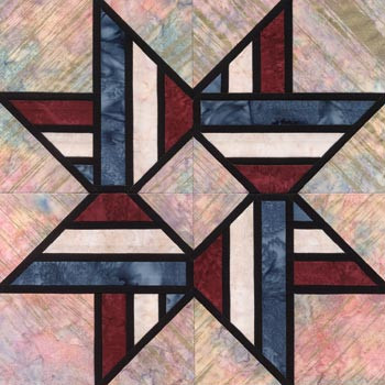 Stained Glass Nation's Pride Paper Pieced Quilt Block Pattern