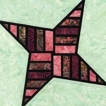 Stained Glass Obstacle Course Paper Pieced Quilt Block Pattern