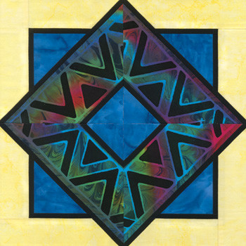 Stained Glass Peduncle Paper Pieced Quilt Block Pattern