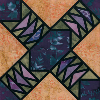 Stained Glass Perpetual Motion Paper Pieced Quilt Block Pattern