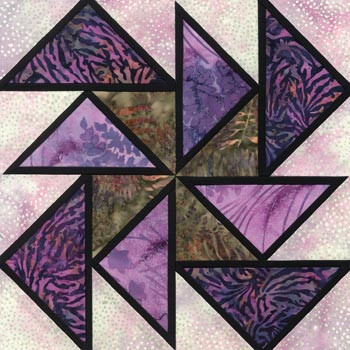 Stained Glass Sailor Skies Paper Pieced Quilt Block Pattern