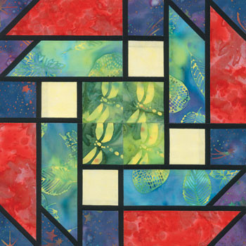 Stained Glass Simply Irresistible Paper Pieced Quilt Block Pattern