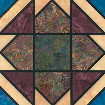 Stained Glass Slip Knot Paper Pieced Quilt Block Pattern