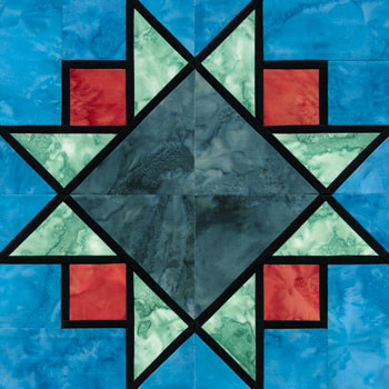 Stained Glass Sparkling Skies Paper Pieced Quilt Block Pattern