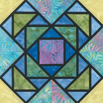 Stained Glass Stacking Blocks Paper Pieced Quilt Block Pattern