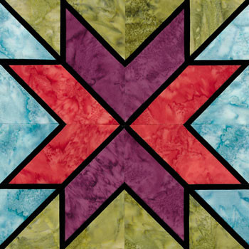 Stained Glass Star of the Milky Way Paper Pieced Quilt Block Pattern