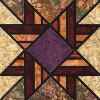 Stained Glass Unconditional Love Paper Pieced Quilt Block Pattern