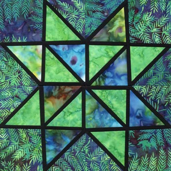 Stained Glass Utopia Paper Pieced Quilt Block Pattern