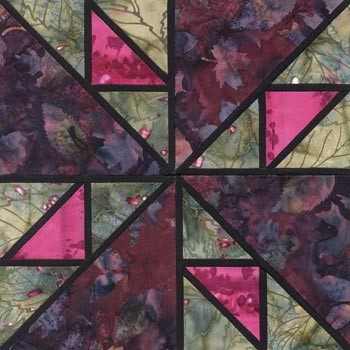 Stained Glass Water Mill Paper Pieced Quilt Block Pattern