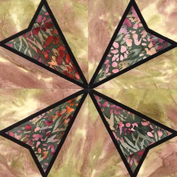 Stained Glass Wild Oats Paper Pieced Quilt Block Pattern