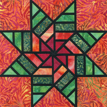 Stained Glass Zest of Life Paper Pieced Quilt Block Pattern