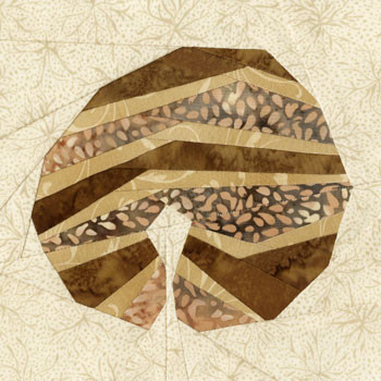 Almond Danish Paper Pieced Quilt Block Pattern