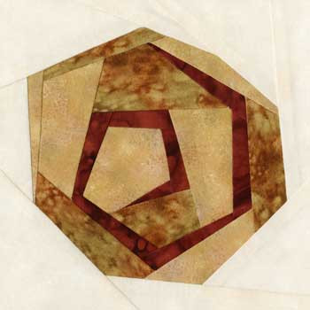 Cinnamon Danish Paper Pieced Quilt Block Pattern