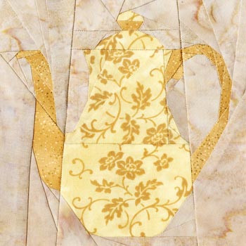 Classic Coffee Pot Paper Pieced Quilt Block Pattern